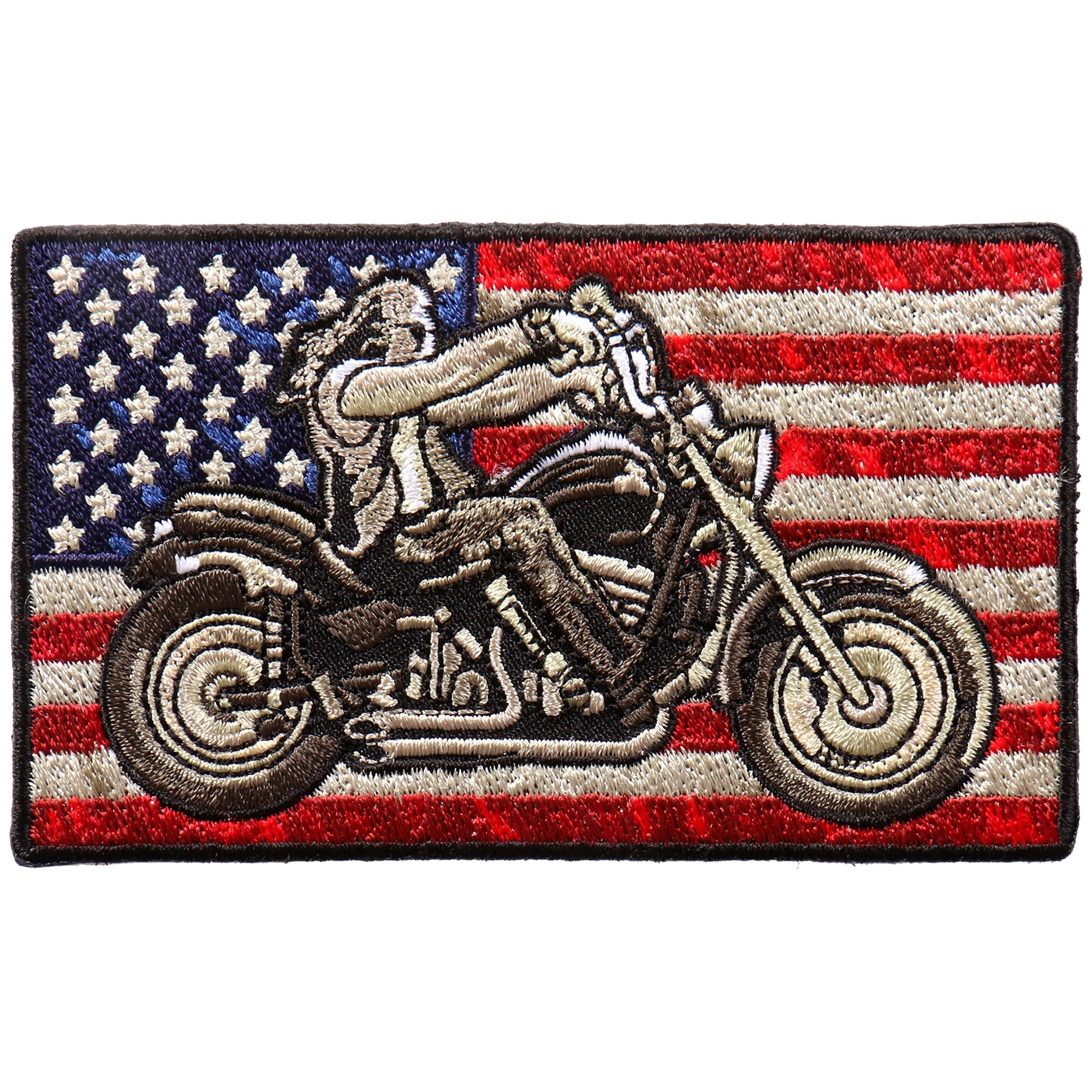 "Hot Leathers Biker Flag 4""x2"" Patch"