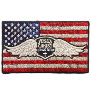 "Hot Leathers Jesus Christ Flag 4""x2"" Patch"