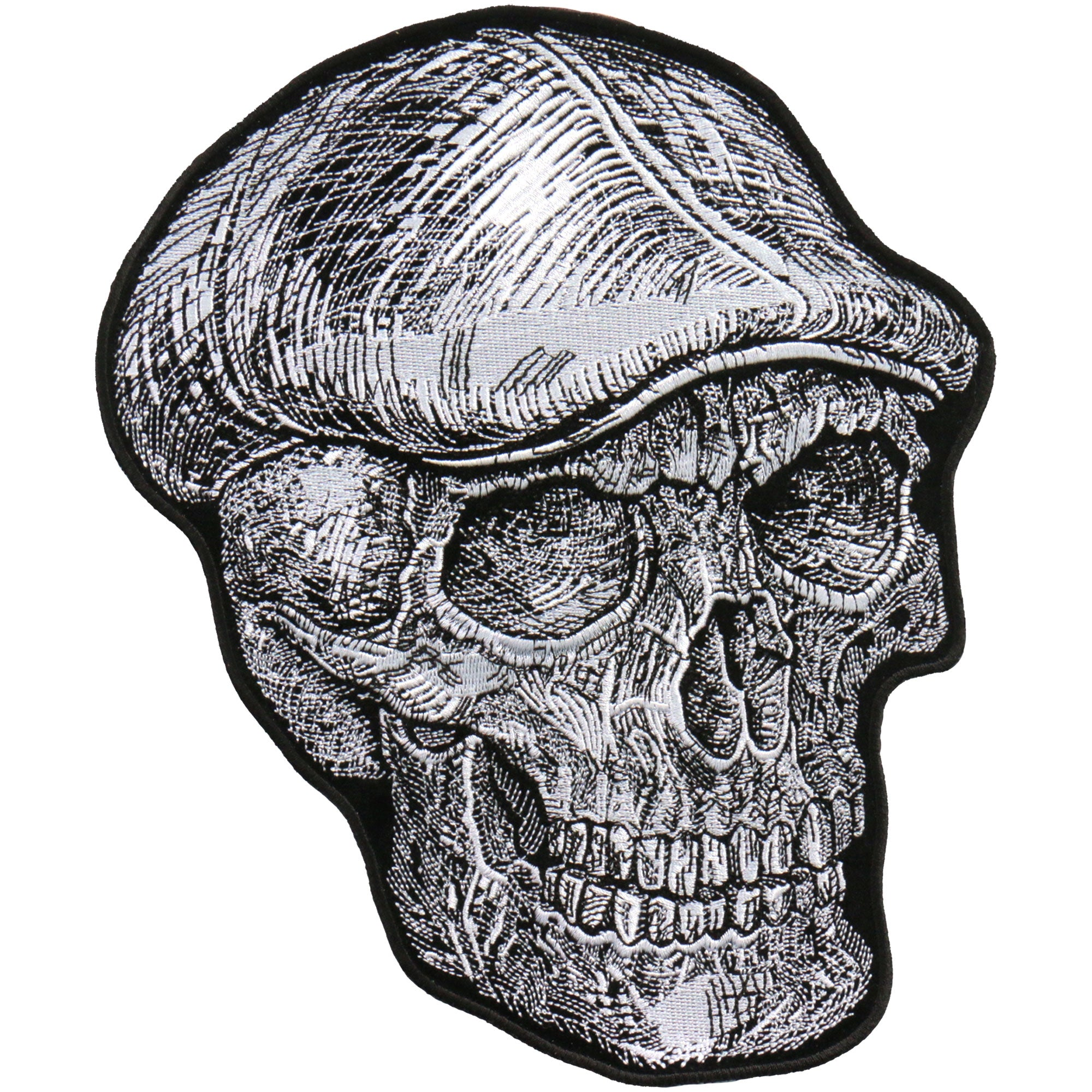 "Hot Leathers 10"" Skull Cap Patch"