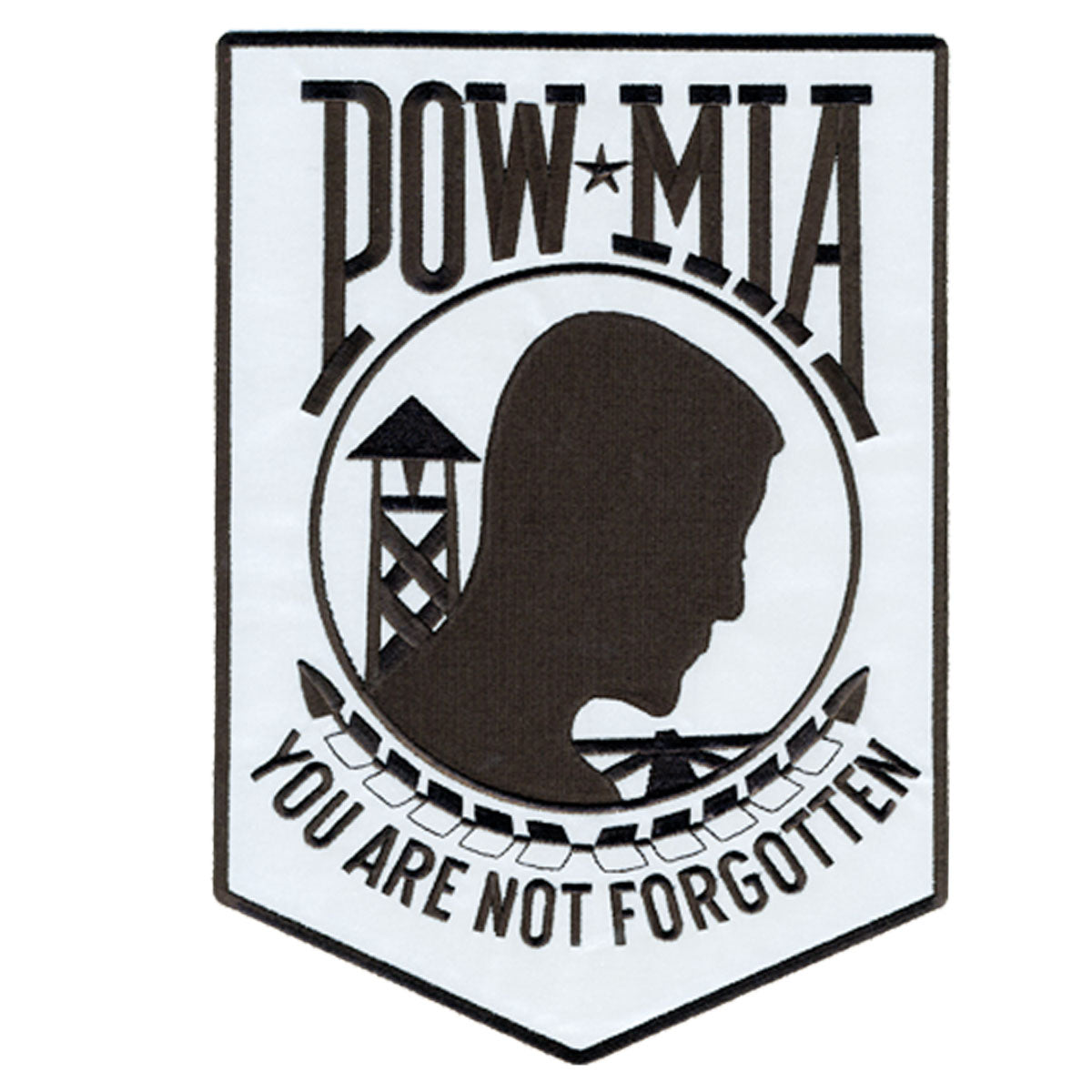 "Hot Leathers 3"" x 4"" POW MIA Reflective Safety Patch"