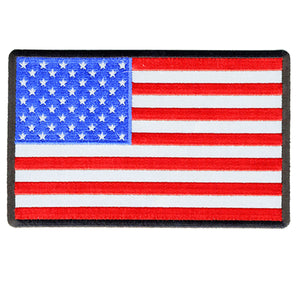 "Hot Leathers American Flag Reflective 6"" x 4"" Patch"