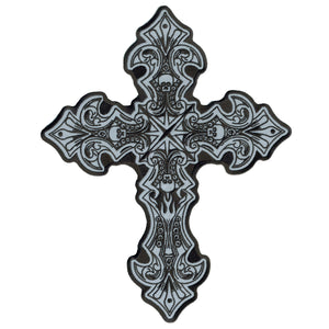 Hot Leathers Reflective Crucifix Patch