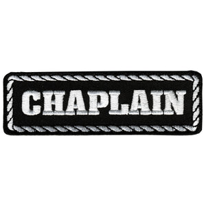 "Hot Leathers Chaplain 4"" x 1"" Patch"