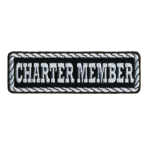 "Hot Leathers Charter Member 4"" x 1"" Patch"