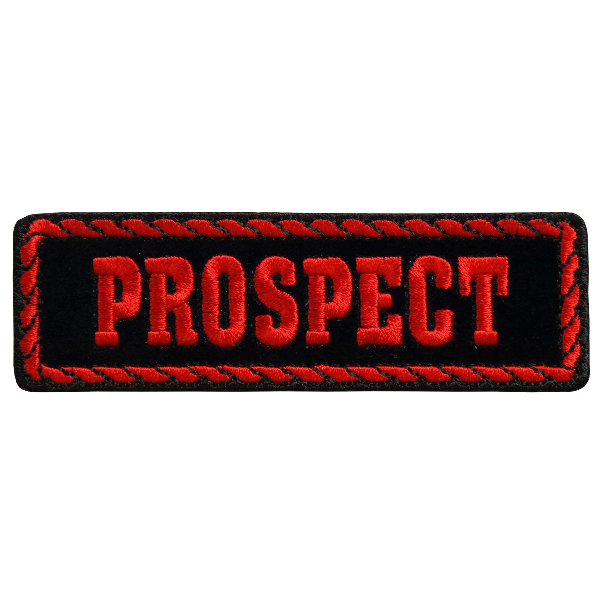 "Hot Leathers Red Officer Prospect 4"" x 1"" Patch"