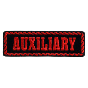 "Hot Leathers Red Officer Auxiliary 4"" x 1"" Patch"