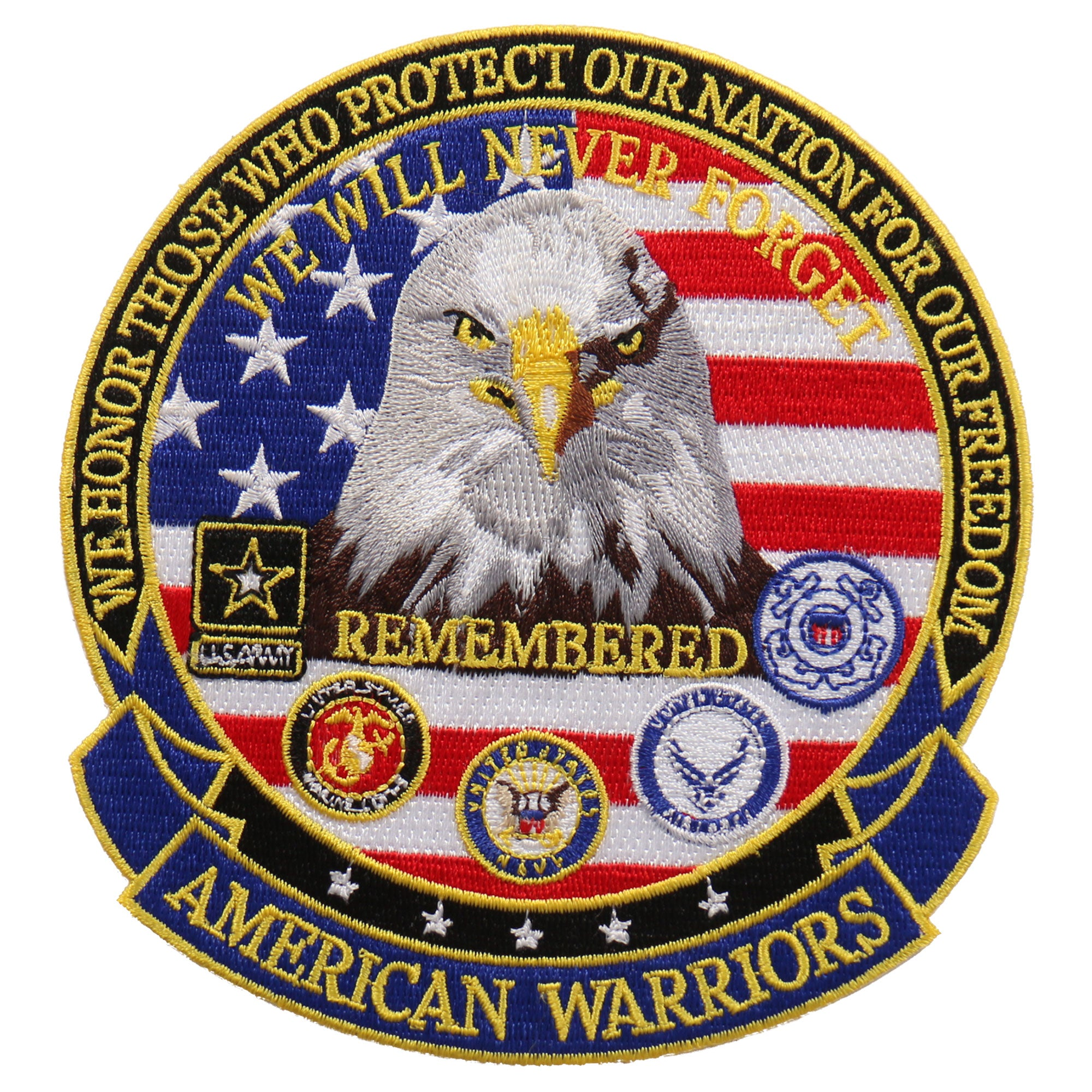 "Hot Leathers We Honor American Warriors es 5"" x 5"" Patch"