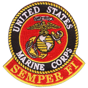 "Hot Leathers USMC Semper Fi Military es 3"" x 3"" Patch"