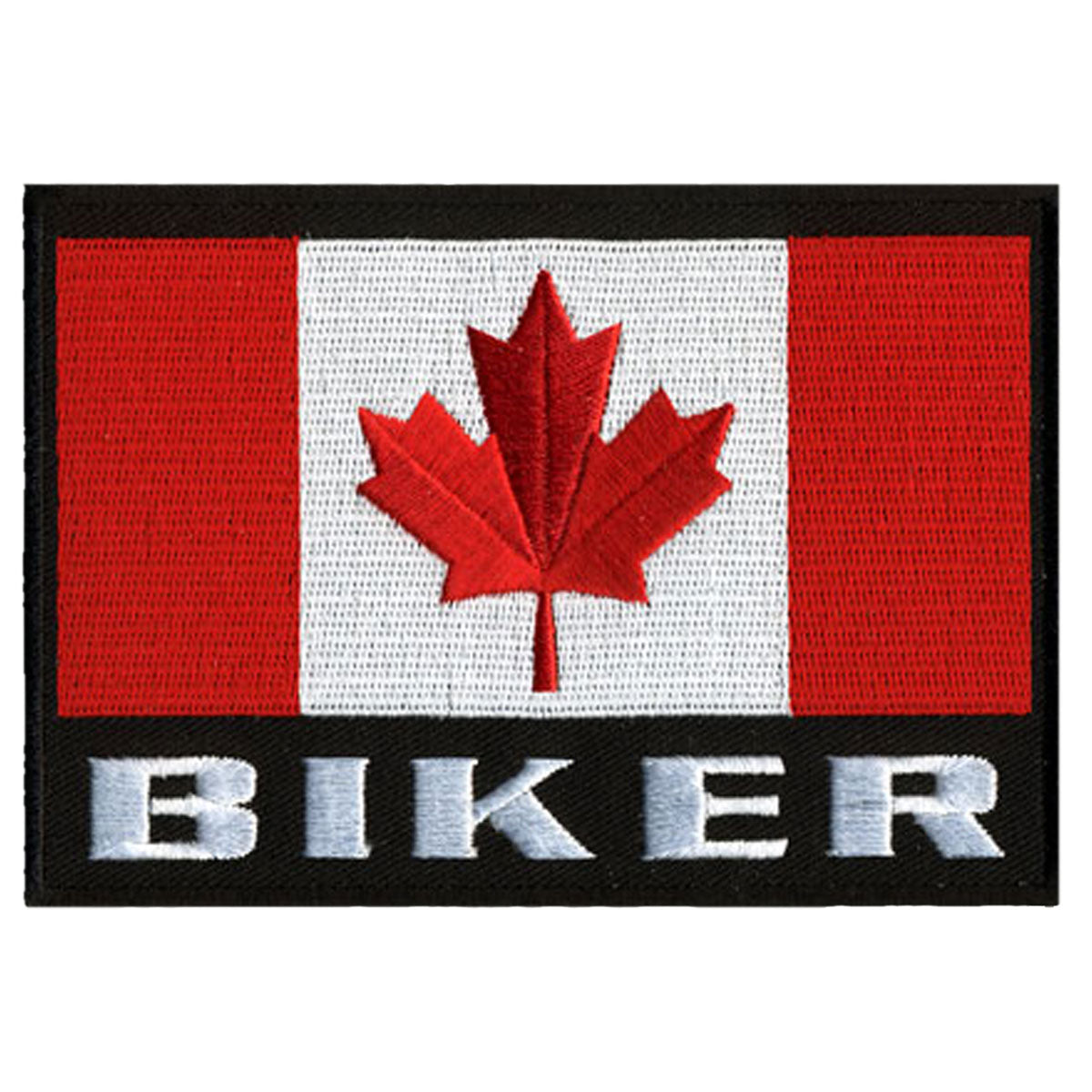 "Hot Leathers Canadian Biker Flag 5"" x 4"" Patch"