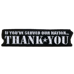 "Hot Leathers If You Served...Thank You 4"" x 1"" Patch"