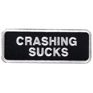 "Hot Leathers Crashing Sucks 4"" x 2"" Patch"