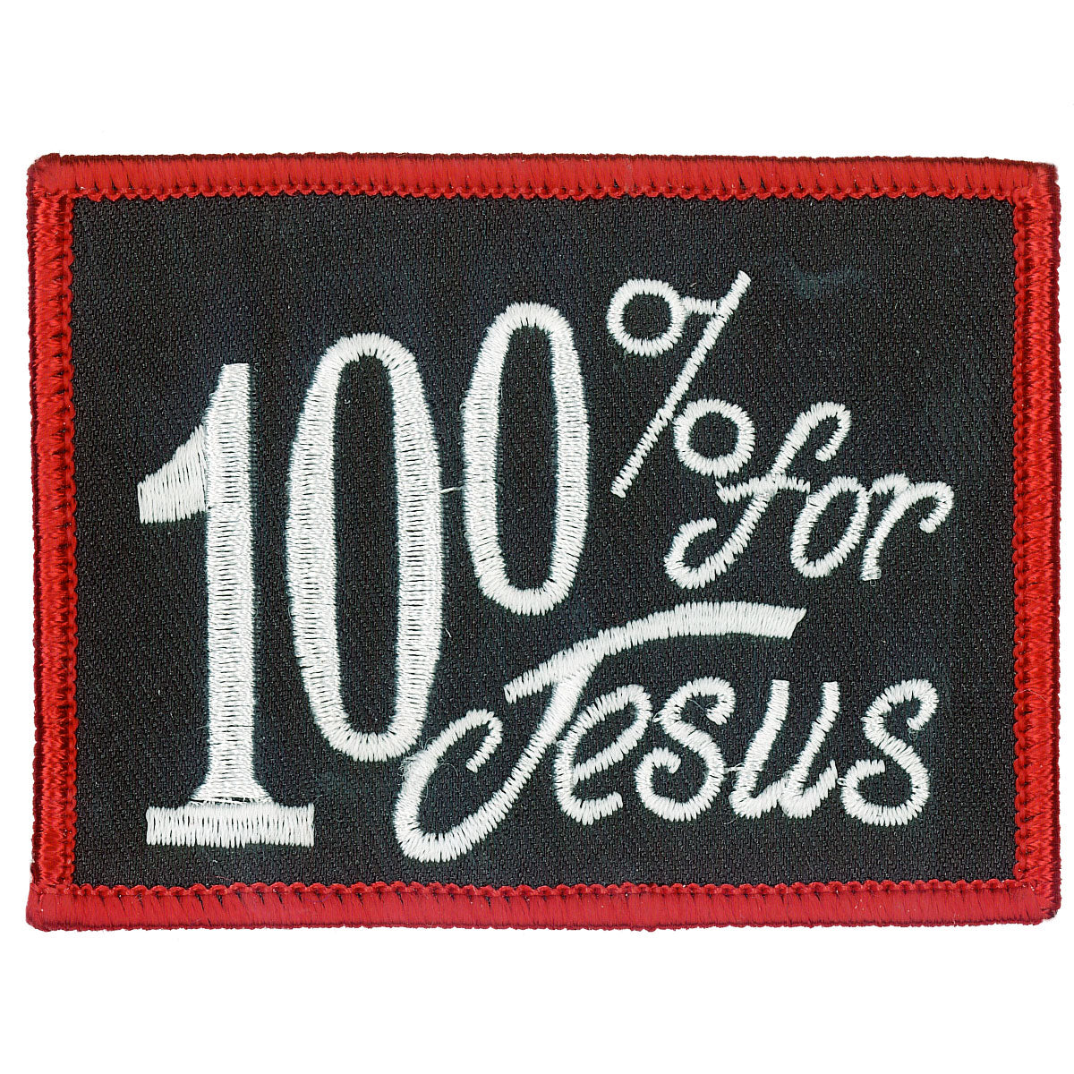 "Hot Leathers 100% For Jesus 3"" x 2"" Patch"