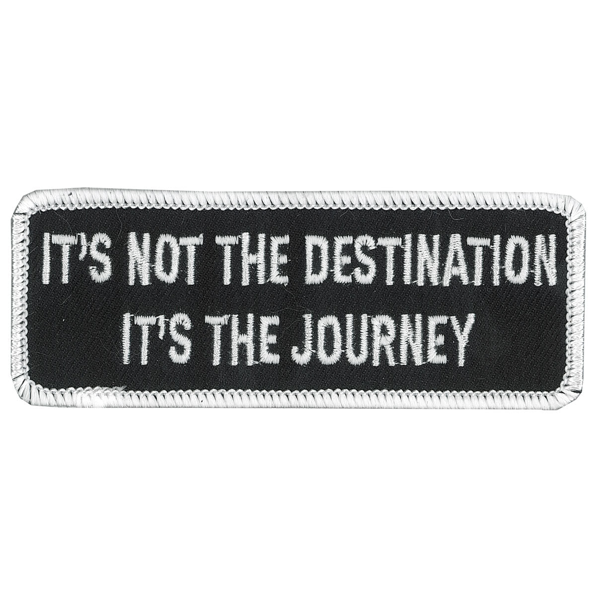 "Hot Leathers Not The Destination 4"" x 2"" Patch"
