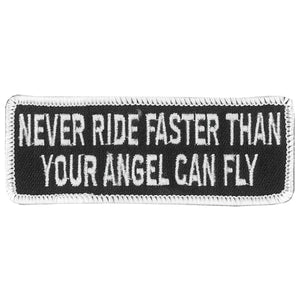 "Hot Leathers Never Ride Faster 4"" x 2"" Patch"