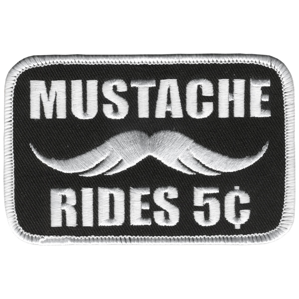 "Hot Leathers Mustache Rides 4"" x 3"" Patch"