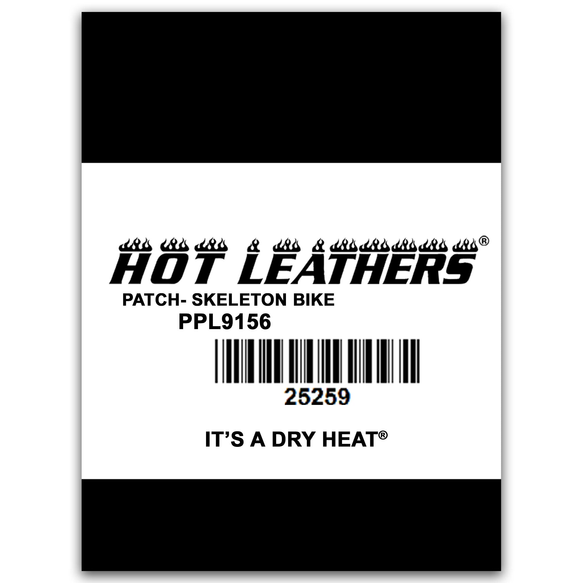 "Hot Leathers Skeleton Bike 4"" x 3"" Patch"