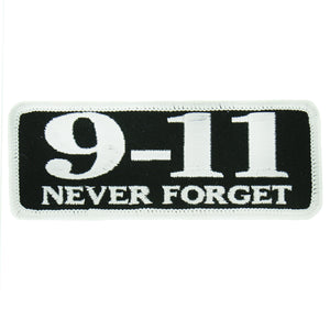 "Hot Leathers 9-11 Never Forget 4"" x 2"" Patch"