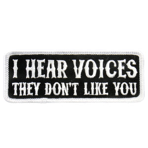 "Hot Leathers I Hear Voices 4"" x 2"" Patch"