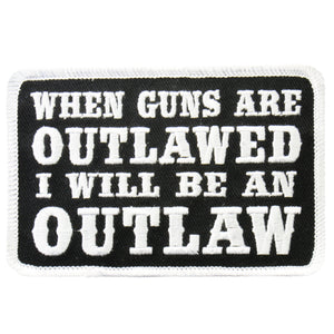 "Hot Leathers When Guns Are Outlawed 4"" x 3"" Patch"