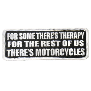 "Hot Leathers There's Motorcycles 4"" x 2"" Patch"