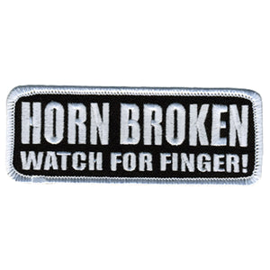 "Hot Leathers Horn Broken 4"" x 2"" Patch"