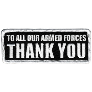 "Hot Leathers To Our Armed Forces 4"" x 2"" Patch"