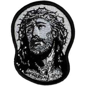 "Hot Leathers Jesus in Crown of Thorns 3"" x 4"" Patch"