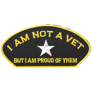 "Hot Leathers Not a Vet 4"" x 2"" Patch"
