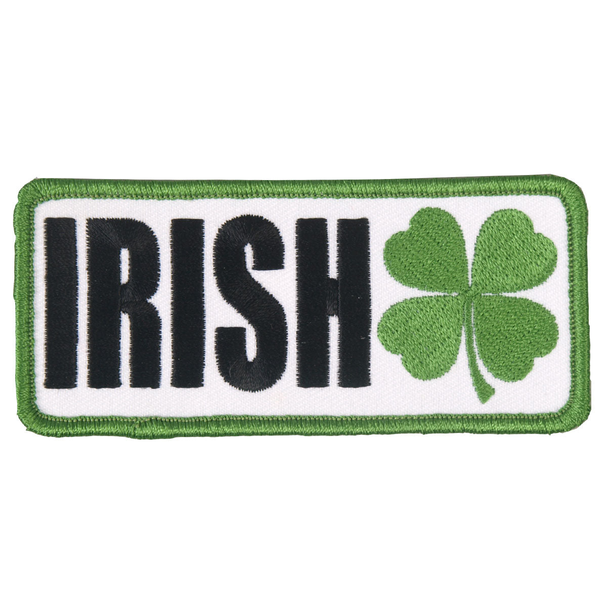 "Hot Leathers Irish Clover Embroidered 4"" x 2"" Patch"