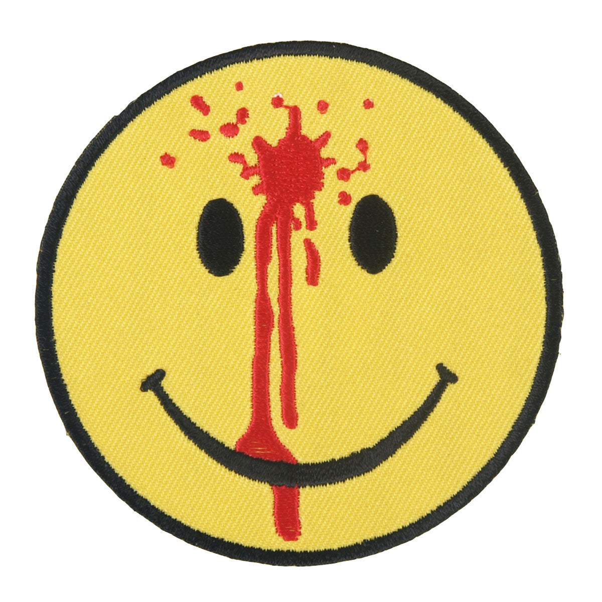 "Hot Leathers Smiley Face Bullet Hole Embroidered 3"" x 3"" Patch"
