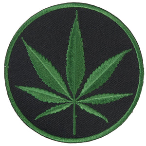 "Hot Leathers Cannabis Embroidered 3"" x 3"" Patch"