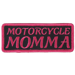 "Hot Leathers Motorcycle Momma Embroidered 4"" x 2"" Patch"