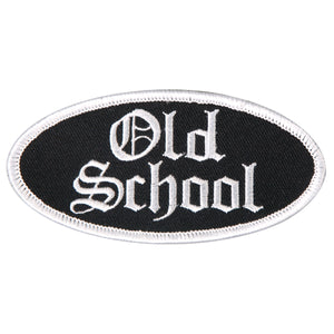 "Hot Leathers Old School Oval 4"" x 2"" Patch"