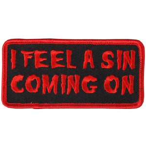 "Hot Leathers I feel A Sin 4"" x 2"" Patch"