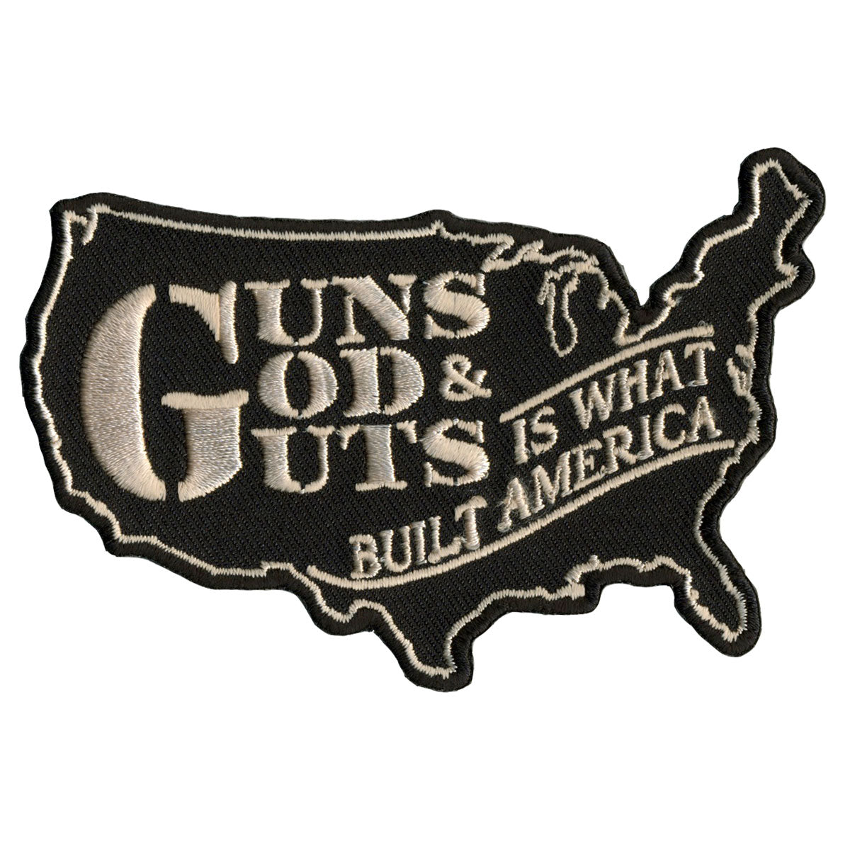 "Hot Leathers Guns, God and Guts 4"" x 3"" Patch"