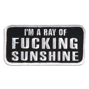 "Hot Leathers I'm A Ray of Sunshine Embroidered 4"" 4"" x 2"" Patch"