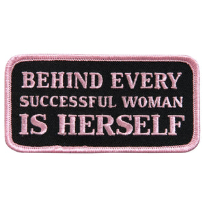 "Hot Leathers Behind Every Successful Woman 4"" x 2"" Patch"