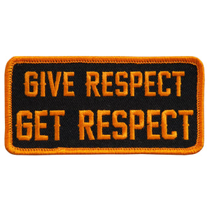 "Hot Leathers Give Respect Get Respect 4"" x 2"" Patch"