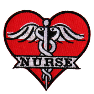 "Hot Leathers Nurse Heart 3""x3"" Patch"