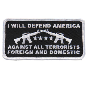 "Hot Leathers I Will Defend America 4""x2"" Patch"