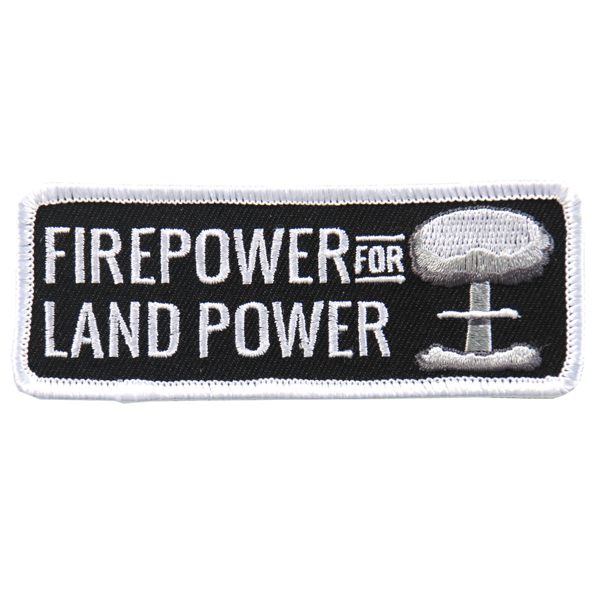 "Hot Leathers Firepower For Land 4""x2"" Patch"