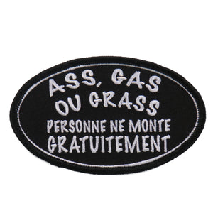 "Hot Leathers Ass Gas Or Grass Person 4""x2"" Patch"