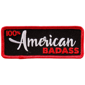 "Hot Leathers 100% American Badass 4""x2"" Patch"