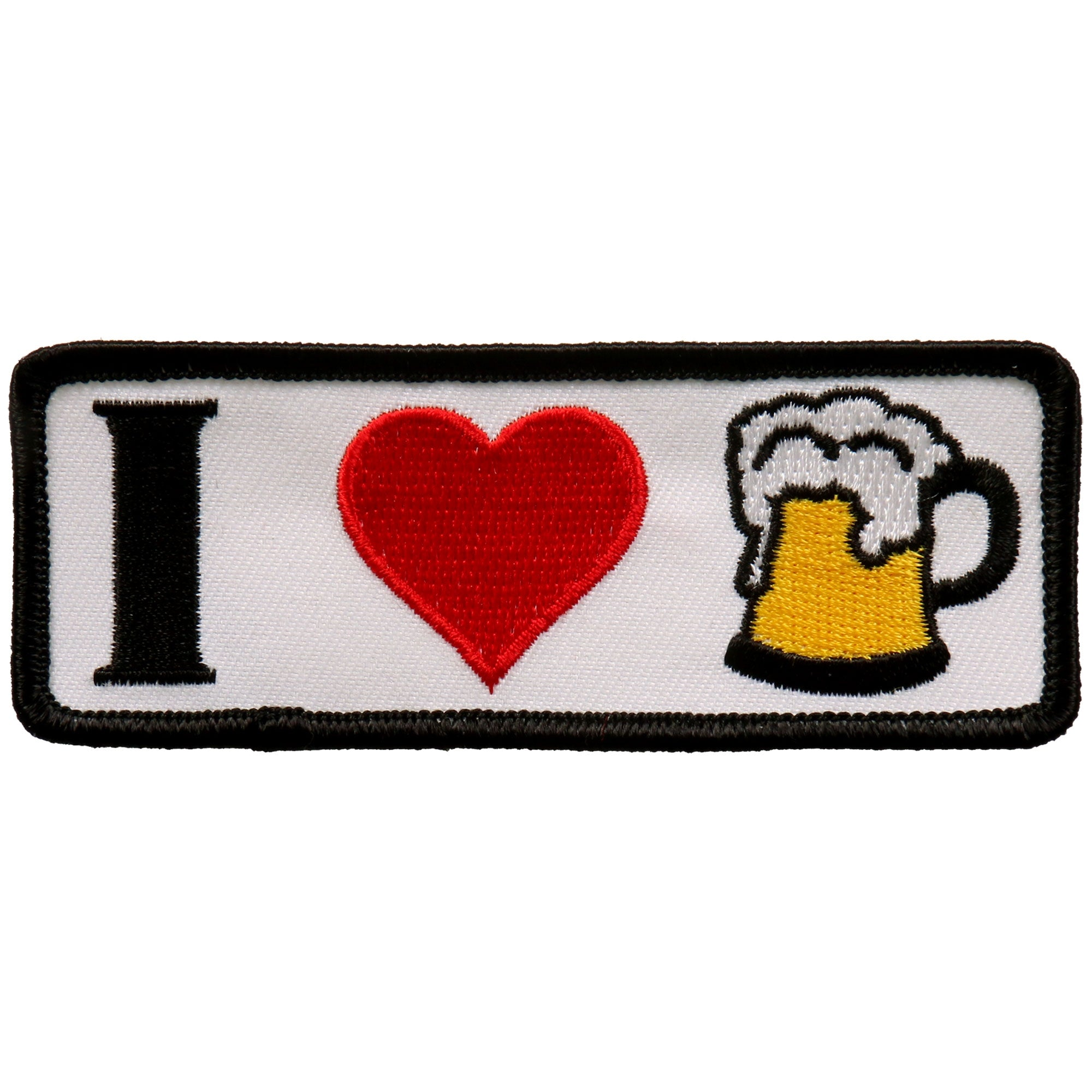 "Hot Leathers I Heart Beer 4""x2"" Patch"