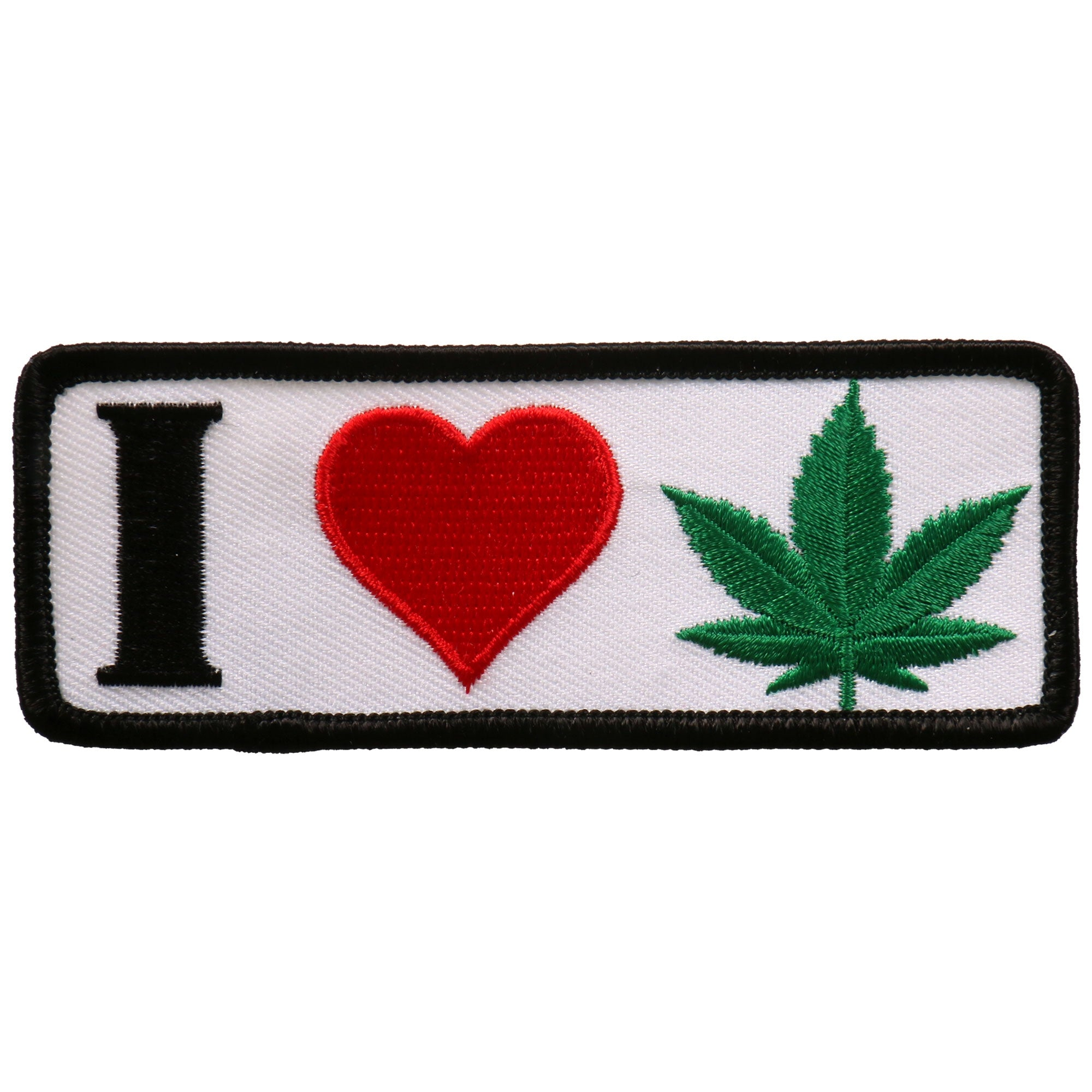 "Hot Leathers I Heart Weed 4""x2"" Patch"
