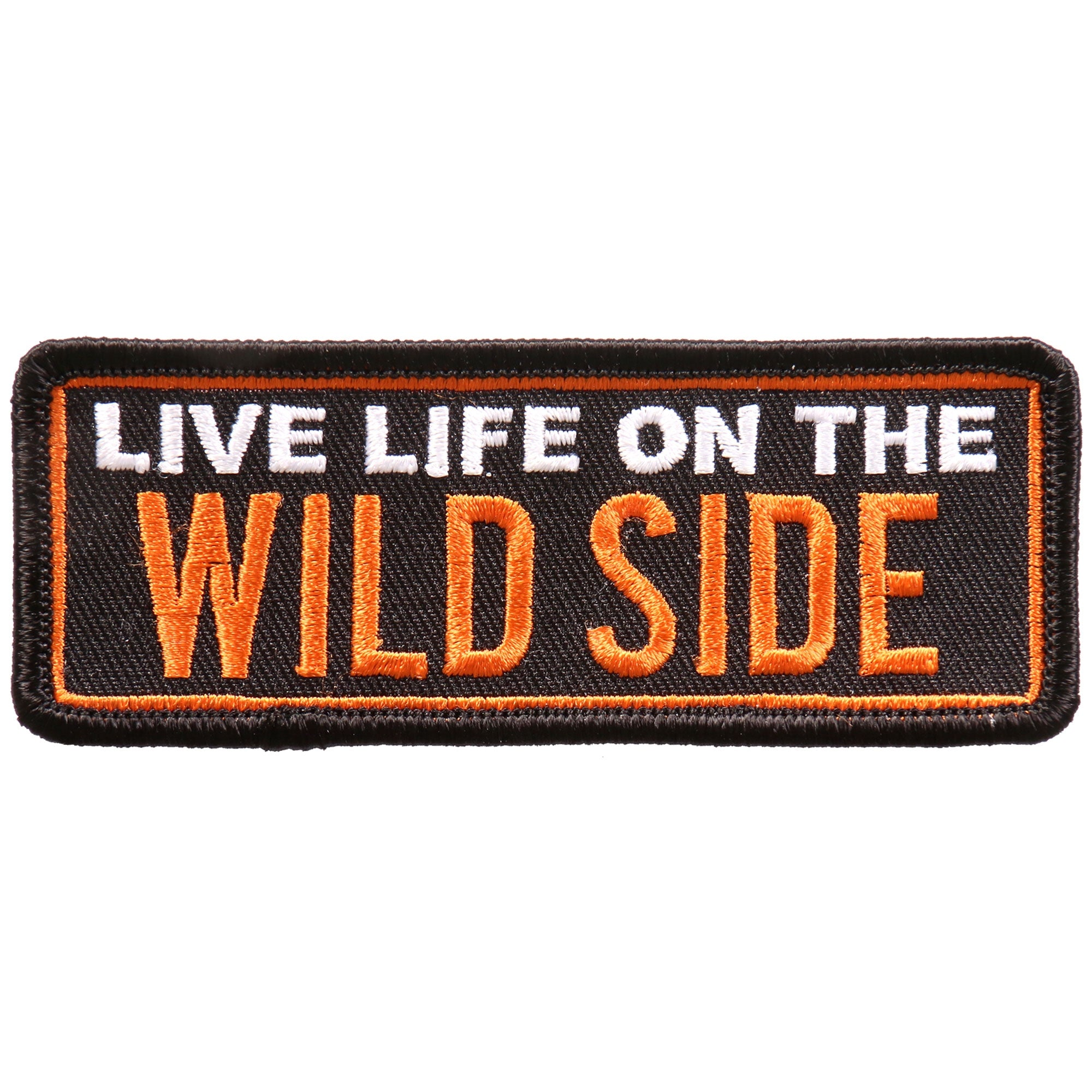 "Hot Leathers Live Life On The Wild 4""x2"" Patch"