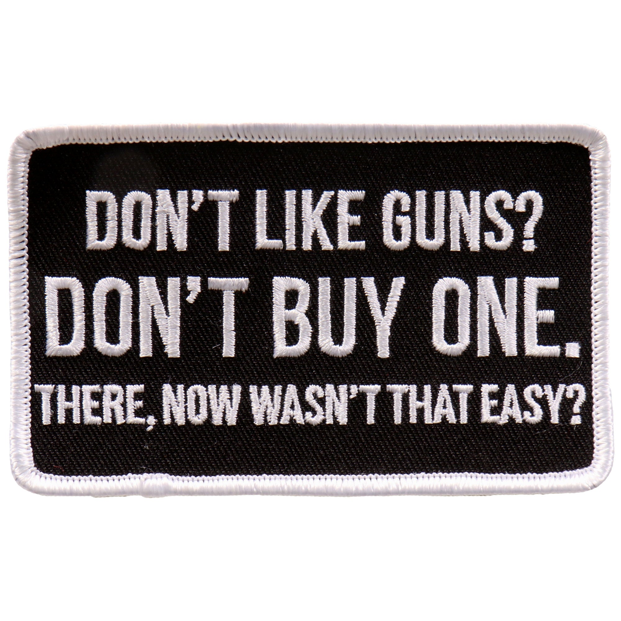 "Hot Leathers Don't Like Guns? 4""x3"" Patch"