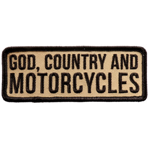 "Hot Leathers God Country and Motorcycle 4""x2"" Patch"