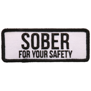 "Hot Leathers Sober For Your Safety 4""x2"" Patch"