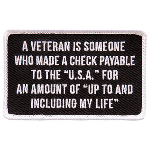 "Hot Leathers Veteran 4""x3"" Patch"
